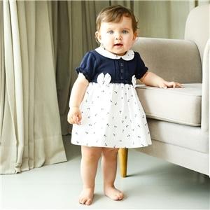 Vestido Bebé c/Cueca - 85-402