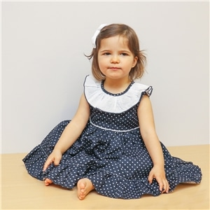 Vestido Pintas Menina - 82-243